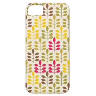 Retro leaves batik rustic boho chic nature pattern iPhone 5 covers