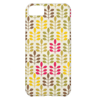 Retro leaves batik rustic boho chic nature pattern iPhone 5C case