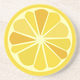 Retro lemon coaster