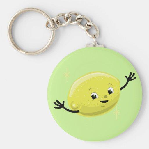 Retro Lemon Guy Keychains