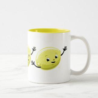Retro Lemon Guy Two-Tone Mug