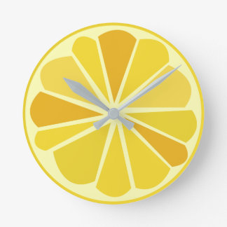 Retro lemon round clock