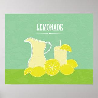 Retro Lemonade Poster