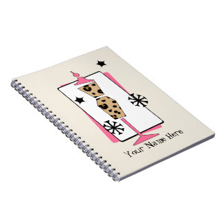 Retro Leopard Dress Form Mannequin Notebook