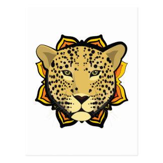 Retro Leopard Postcard