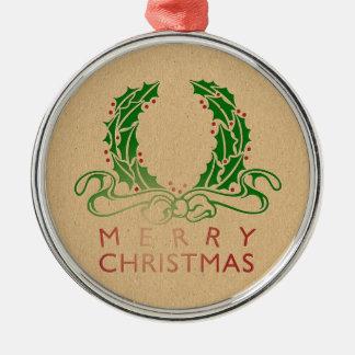 Retro Letterpress Christmas Christmas Ornament