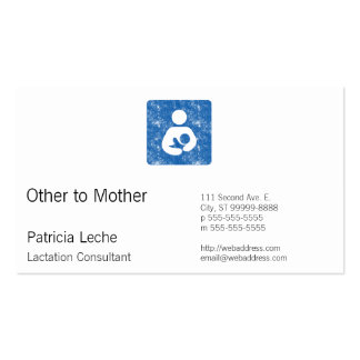 Retro Letterpress Style Nursing Icon Business Cards