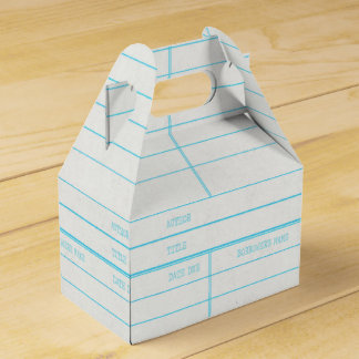 Retro Library Book Date Due Card Favour Box