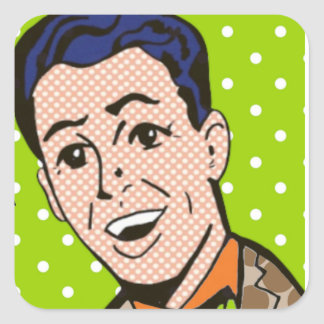 Retro Life of the Party Pop Art Stickers