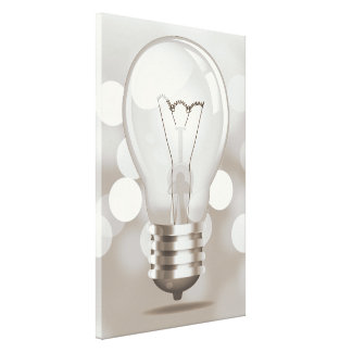 Retro Light Bulb Canvas Print