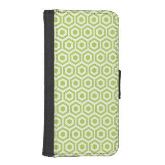 Retro Light Green Honeycomb iPhone 5 Wallet Case