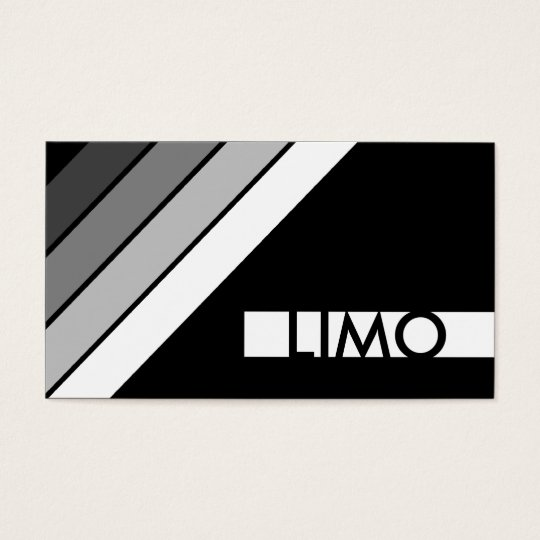 retro LIMO Business Card