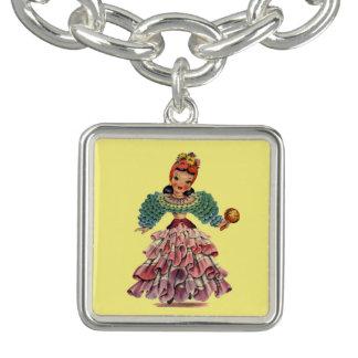 Retro Little Lady Of Latin America