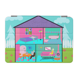 Retro Living Dollhouse iPad Mini Cover