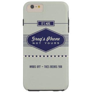 Retro Logo Funny Personalized Phone Case Gray
