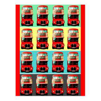 Retro London Bus Postcard -3