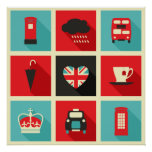 Retro London Collage Poster