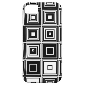 Retro look black white square pattern iPhone 5 cases