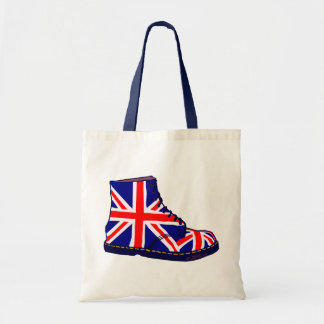 Retro look british boot pop art tote bag