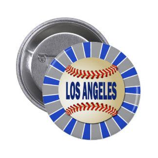 RETRO LOS ANGELES BASEBALL 6 CM ROUND BADGE