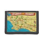 Retro Los Angeles Freeways Tri-fold Wallets