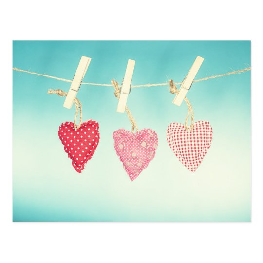 Retro Love Postcard