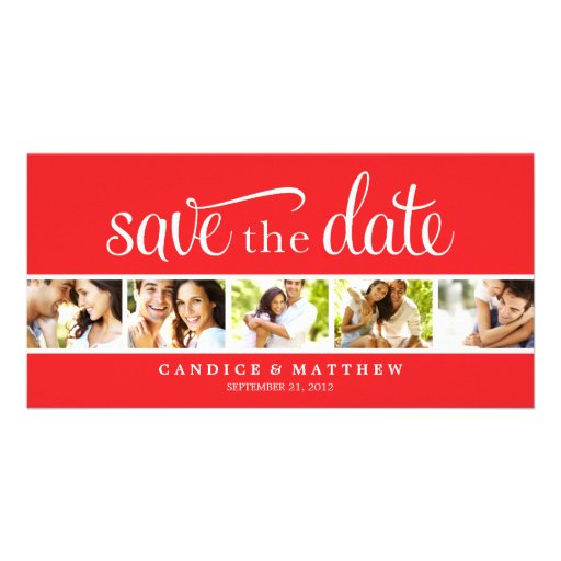 RETRO LOVE | SAVE THE DATE ANNOUNCEMENT CUSTOMIZED PHOTO CARD