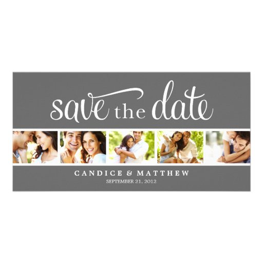 RETRO LOVE | SAVE THE DATE ANNOUNCEMENT PERSONALIZED PHOTO CARD