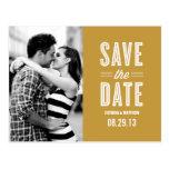 RETRO LOVE | SAVE THE DATE ANNOUNCEMENT POST CARD