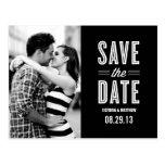 RETRO LOVE | SAVE THE DATE ANNOUNCEMENT POSTCARD