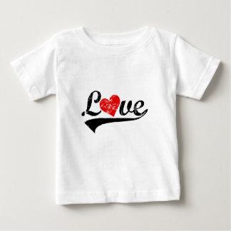 "Retro ""Love"" with heart Baby T-Shirt"