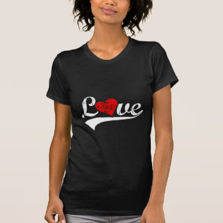 "Retro ""Love"" with heart T-shirts"