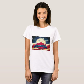 Retro Luisviile Kentucky Skyline T-Shirt