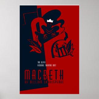 Retro Macbeth William Shakespeare Posters