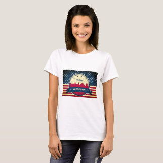 Retro Madison Wisconsin Skyline T-Shirt