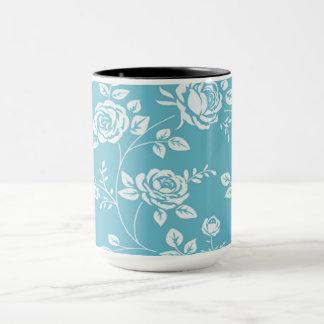 Retro_Maggie-Floral_Maggie Blue* Custom Color_ Mug