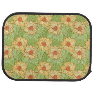 Retro Magnolia Pattern Car Mat