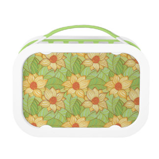 Retro Magnolia Pattern Lunch Box