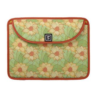 Retro Magnolia Pattern Sleeve For MacBook Pro
