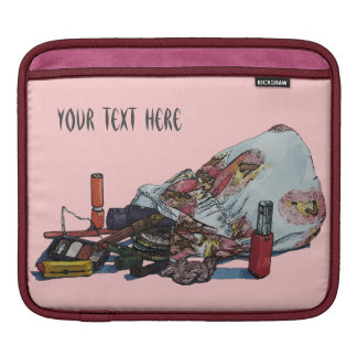 retro make-up bag lipstick still life art design iPad sleeve