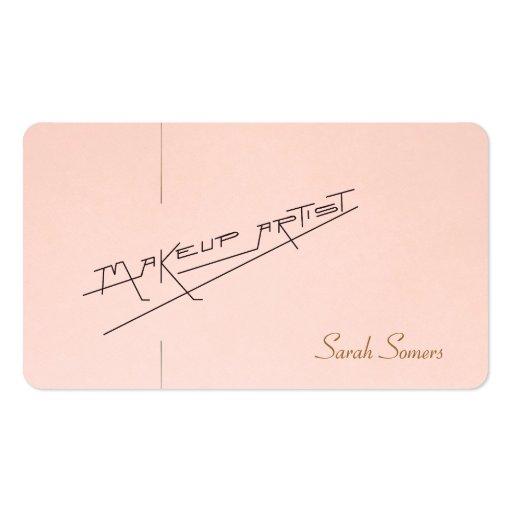 Retro Makeup Artist Beauty Salon Light Pink Business Cards