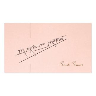 Retro Makeup Artist Beauty Salon Light Pink Pack Of Standard Business Cards
