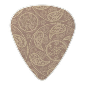 Retro mandala pattern acetal guitar pick