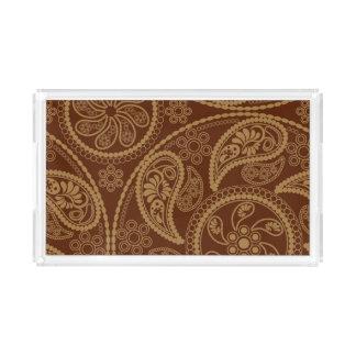 Retro mandala pattern acrylic tray