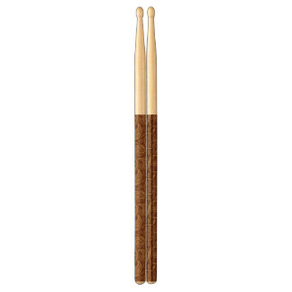 Retro mandala pattern drumsticks