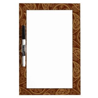 Retro mandala pattern dry erase board