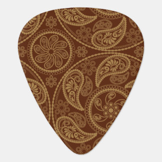 Retro mandala pattern guitar pick