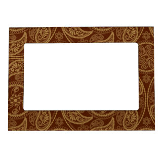 Retro mandala pattern magnetic frame