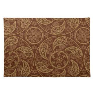Retro mandala pattern placemat