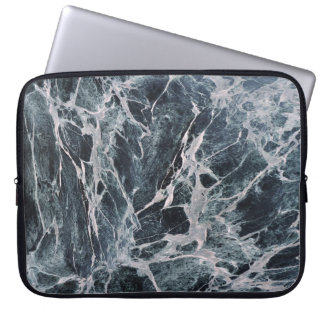 Retro Marble Stone Texture Pattern Laptop Sleeve
